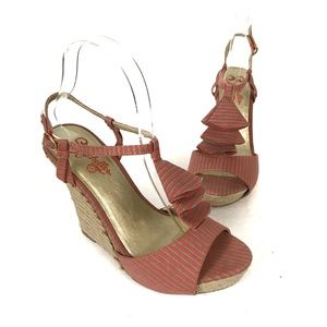 Seychelles How Do You Do Striped Wedge